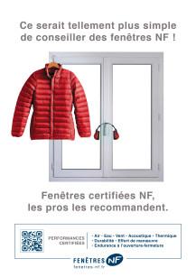 Fenêtres certifiées NF, les pros les recommandent.