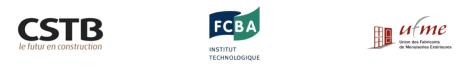 Logo CSTB, FCBA et UFME